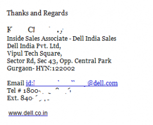 Personal Touch- Dell