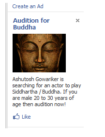 Buddha Ad on Facebook