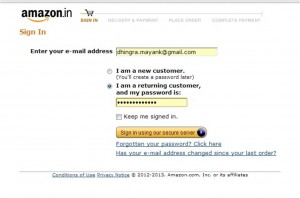 Login/Sign up Page - Amazon.in