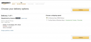 Delivery Options - Amazon.in