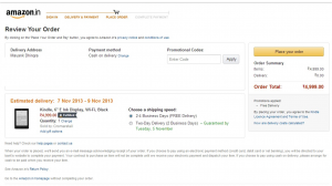 Review order page - Amazon.in