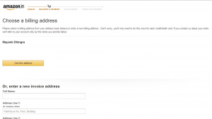 Billing Address Page - Amazon.in